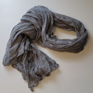 Gray and Sparkle Silver Star Scarf